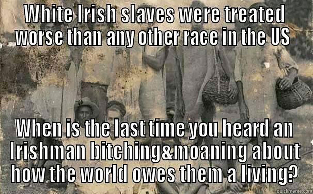were there irish slaves in america