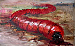 Artists Depiction of Mongolian Death Worm