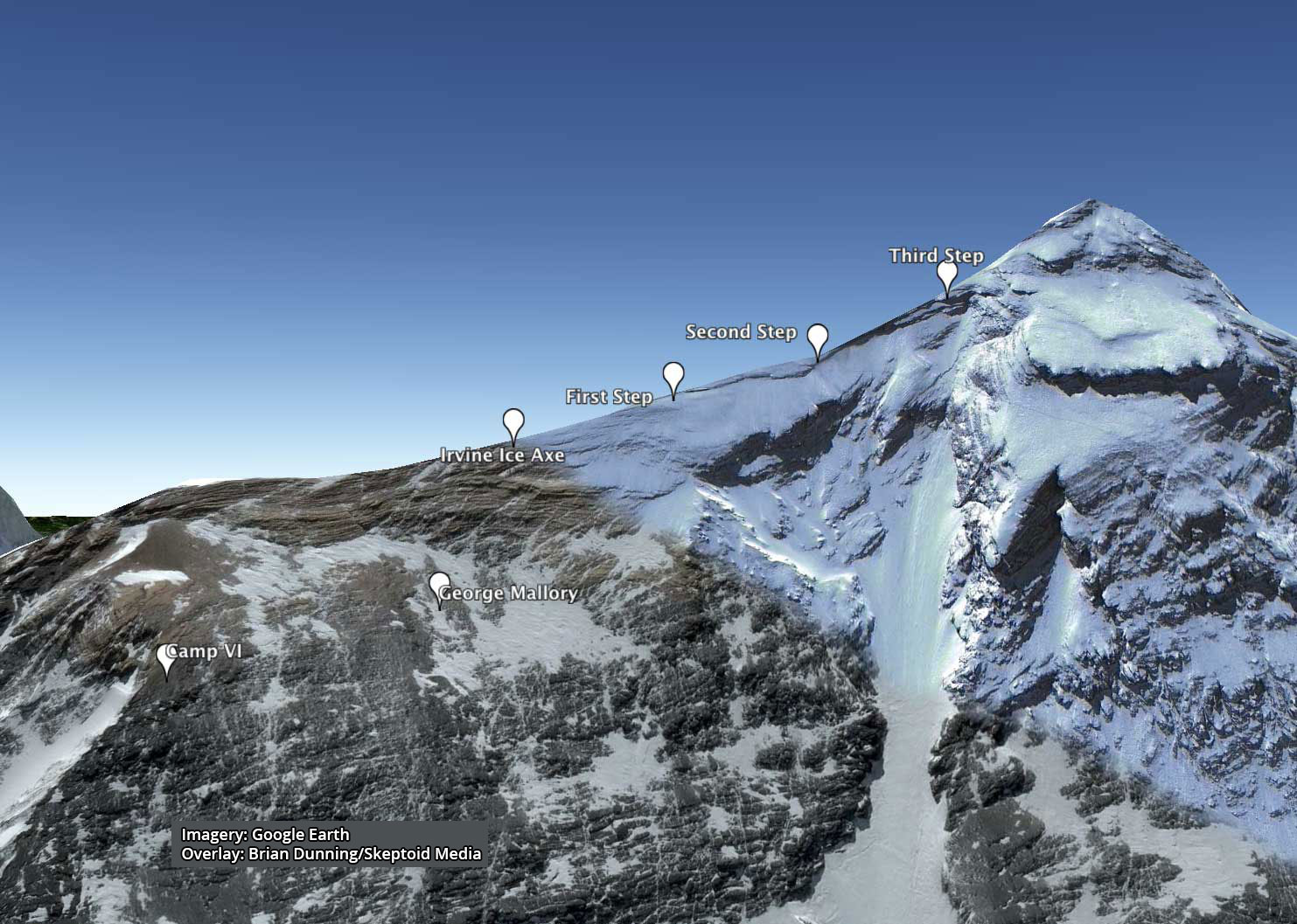 Mt Everest North Ridge Route